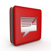 New message square icon on white background — Stock Photo