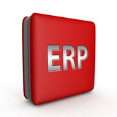 ERP square icon on white background — Stock Photo