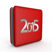 2015 square icon on white background — Stock Photo