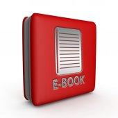 E-book square icon on white background — Stok fotoğraf