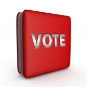 Vote square icon on white background — Stock Photo
