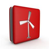 Turbine square icon on white background — Stock Photo