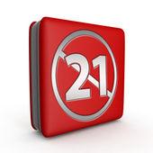 21 ícone quadrado sobre fundo branco — Fotografia Stock