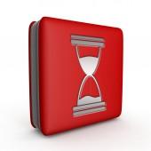 Hourglass square icon on white background — Stockfoto