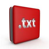 .txt square icon on white background — Stock Photo