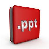 .ppt square icon on white background — Stock Photo