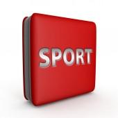 Sport square icon on white background — Foto de Stock