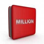 Million square icon on white background — Stock Photo