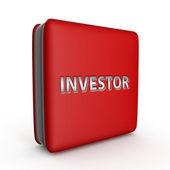 Investor square icon on white background — Stock Photo