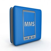 Mms square icon on white background — Stockfoto