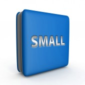 Small square icon on white background — Stock Photo