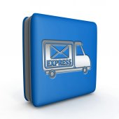 Express square icon on white background — 图库照片