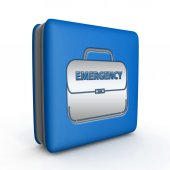 Emergency square icon on white background — 图库照片