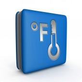Fahrenheit square icon on white background — Stock Photo