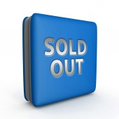 Sold out square icon on white background — Stock Photo