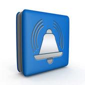 Alarm square icon on white background — Стоковое фото