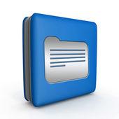 Folder square icon on white background — Stock Photo
