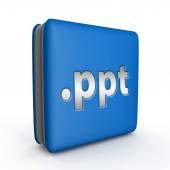 PPT-Quadrat-Symbol auf weißem Hintergrund — Stockfoto