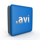 .avi square icon on white background — Stockfoto