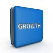 Growth square icon on white background — Stock Photo