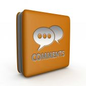 Comments now square icon on white background — Stock Photo