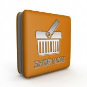 Buy now square icon on white background — ストック写真