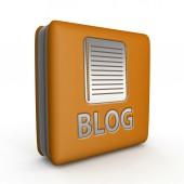Blog square icon on white background — Stock Photo