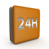24 hours square icon on white background — Stock Photo