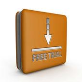 Free trial square icon on white background — Stock Photo