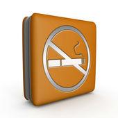 Zigarette-Quadrat-Symbol auf weißem Hintergrund — Stockfoto
