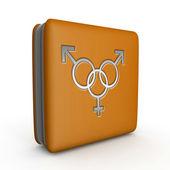 Sexuality square icon on white background — Stock Photo