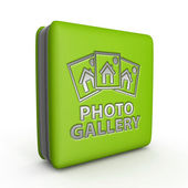 Photo galery square icon on white background — Stock Photo