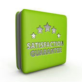 Satisfaction square icon on white background — Stock Photo