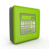 Calculate square icon on white background — Stock Photo