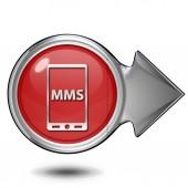 Mms circular icon on white background — Stock Photo