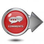 Komentarze teraz okrągła ikona na białym tle — Zdjęcie stockowe