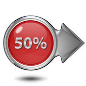 Fivety percent circular icon on white background — Stock Photo