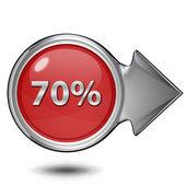 Seventy percent circular icon on white background — Stock Photo