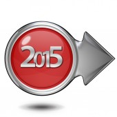 2015  circular icon on white background — Stockfoto