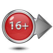 16 circular icon on white background — Stock Photo