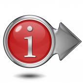 Kreisförmige informationssymbol auf weißem hintergrund — Stockfoto