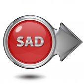 Sad circular icon on white background — Stock Photo