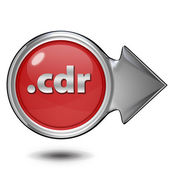 .cdr circular icon on white background — Fotografia Stock