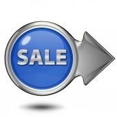 Sale circular icon on white background — Stock Photo