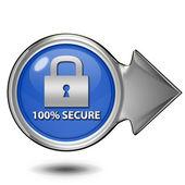 Lock circular icon on white background — Stock Photo