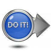 Do it circular icon on white background — Stock Photo