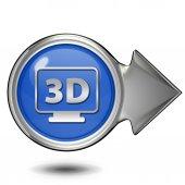 3Dcircular icon on white background — Zdjęcie stockowe
