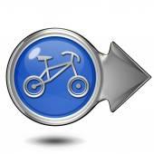 Bike circular icon on white background — Stock Photo