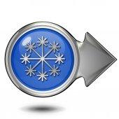 Snow circular icon on white background — Stock Photo