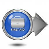 First aid circular icon on white background — Stock Photo